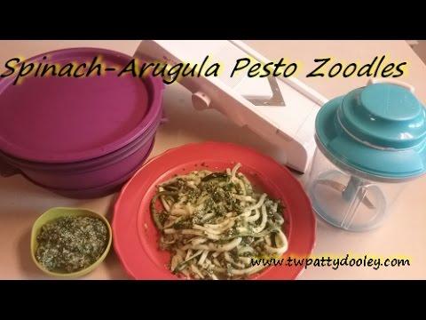 Tupperware Spinach Arugula Pesto Zoodles