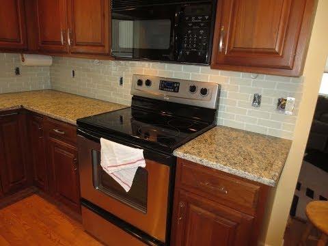 How to install a Glass tile kitchen backsplash Part 1