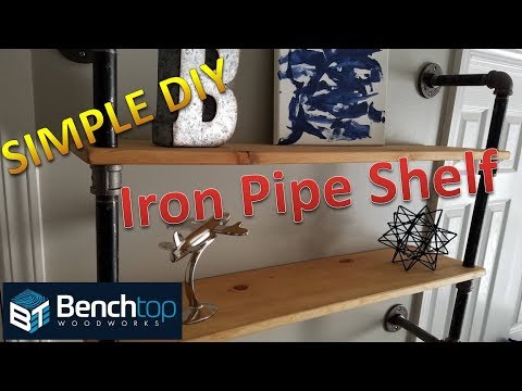 Industrial Pipe Shelf DIY
