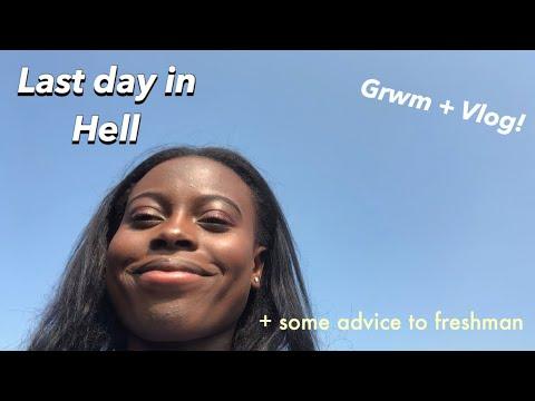 LAST DAY OF HIGH SCHOOL!! GRWM + VLOG / freshman advice from seniors!