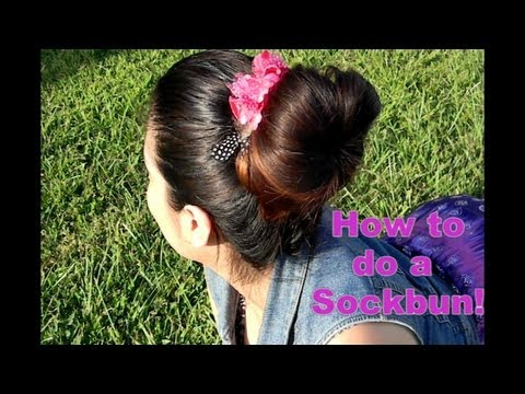How to do a Sock Bun in 3 Minutes!