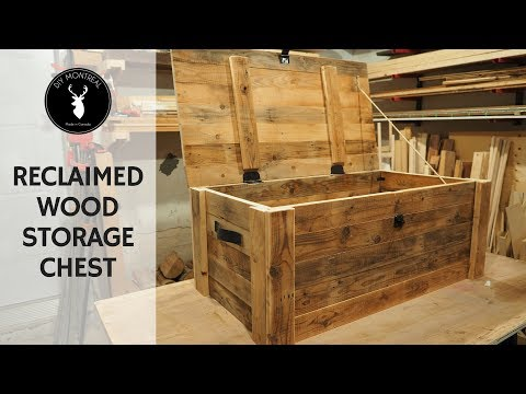 Build a storage chest from reclaimed wood