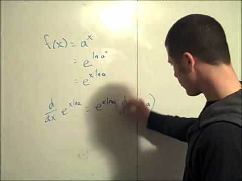 derivative of an exponential function