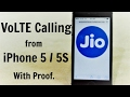 Jio call on iphone 5s,5 and 5C hindi