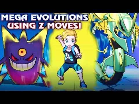 All Mega Evolutions using Z Moves in Pokémon Sun and Moon! All Mega & Primal Pokemon using Z Moves!