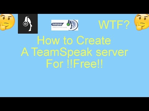 How to Create your own ts3 server for !!FREE!!