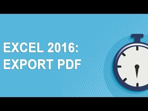 Excel 2016: Export PDF (2017)