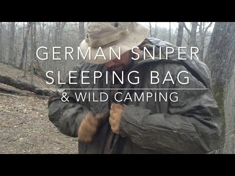 German Sniper Sleeping Bag & Wild Camping