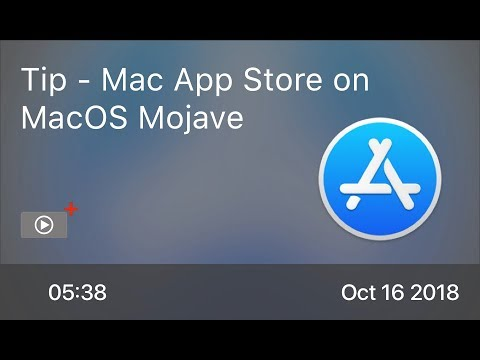 SCOM0778 - Tip - Mac App Store on MacOS Mojave