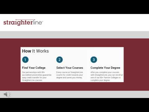 A Video Overview Of Earning A College Degree With StraighterLine