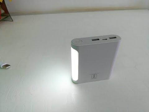Fast Charging 10000 mAh Power Bank with LED Torch