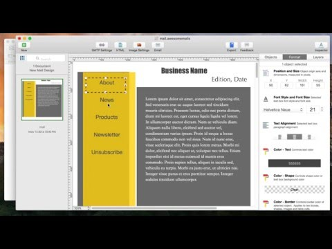 How to change font style and font size using Awesome Mails Pro 2 for Mac