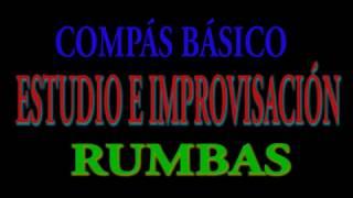 COMPÁS BÁSICO POR RUMBAS, ESTUDIA E IMPROVISA, Am-G-F-E. Jerónimo de Carmen-Guitarra Flamenca.