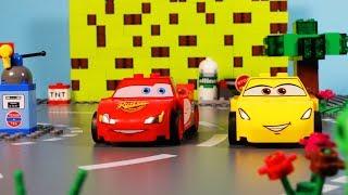 🏁 Lego Arcade Disney Cars 3 🏁 RACE 🏁 Video-Game Lightning McQueen vs Cruz Ramirez 🏁 stop motion