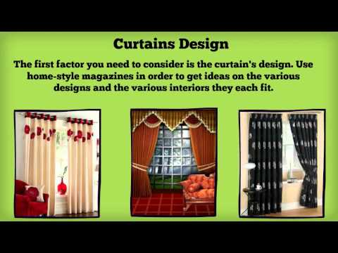 Tips On How To Choose Window Curtains