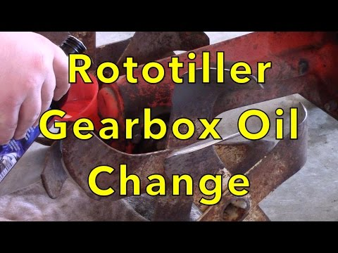 Rototiller Gearbox Oil Change