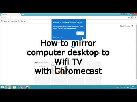 How to mirror computer desktop to Wifi TV with Chromecast