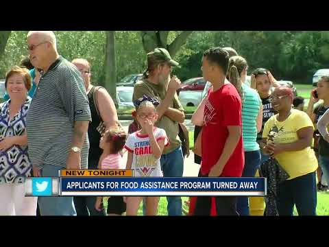 Applicants for food assistance turned away