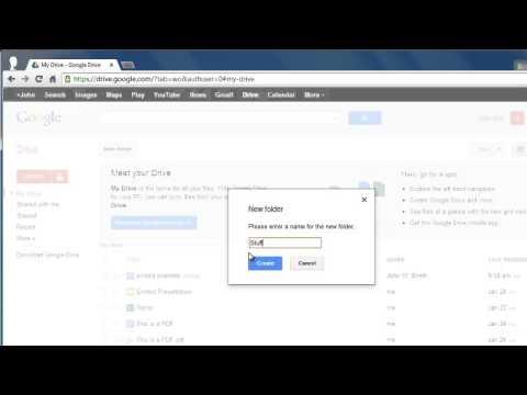 How to create Google Docs folder