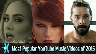 Top 10 Most Popular YouTube Music Videos of 2015 - TopX