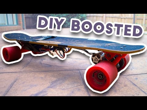 • Homemade Boosted board! | DIY ELECTRIC SKATEBOARD