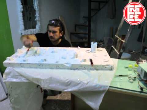 Painting ready ice molds part1