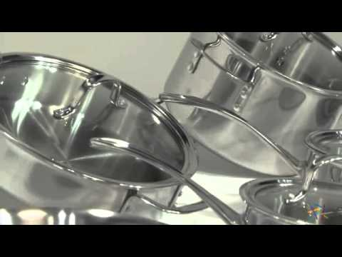 Calphalon Tri Ply Stainless Steel 13 Piece Cookware Set - Product Review Video