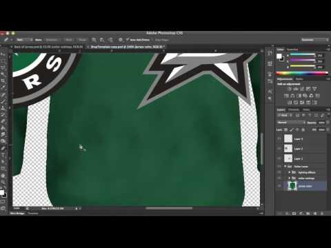 Hockey Jersey Template Tutorial: Part 1