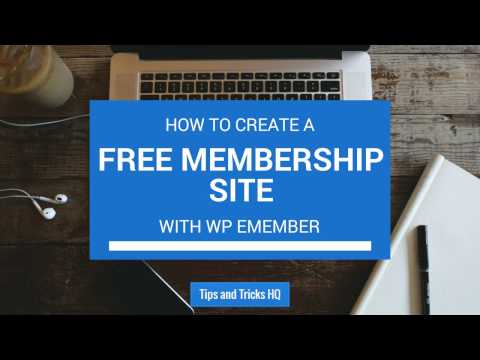 WP eMember - Basic Configuration and Setting up a Free Membership Site