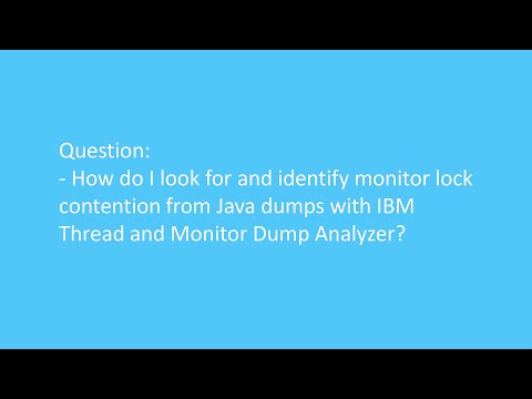 How do I look for and identify monitor lock contention from Java dumps with IBM T&M Dump Analyzer?