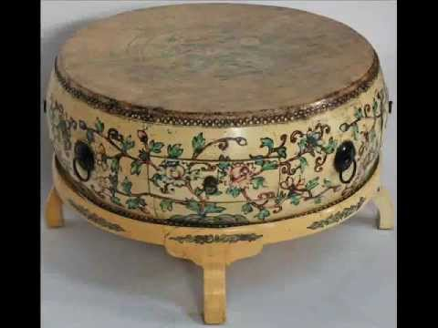 Asian-Inspired Drum Coffee Table with Stand_bk0085y.wmv