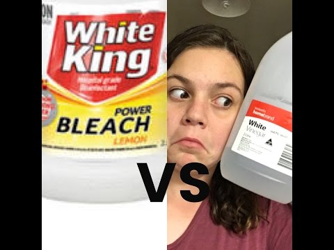 Bleach VS Vinegar- Will it remove pink of white clothing? Part 2 ( WITH BLOOPERS)