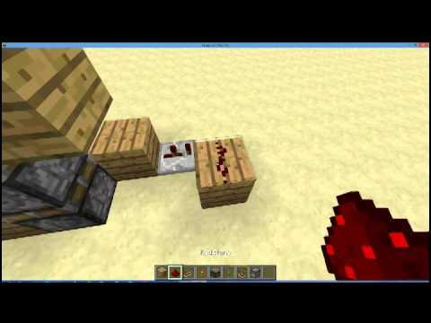 Minecraft 1.7.9 Compact Fast 3x3 Piston Door Tutorial