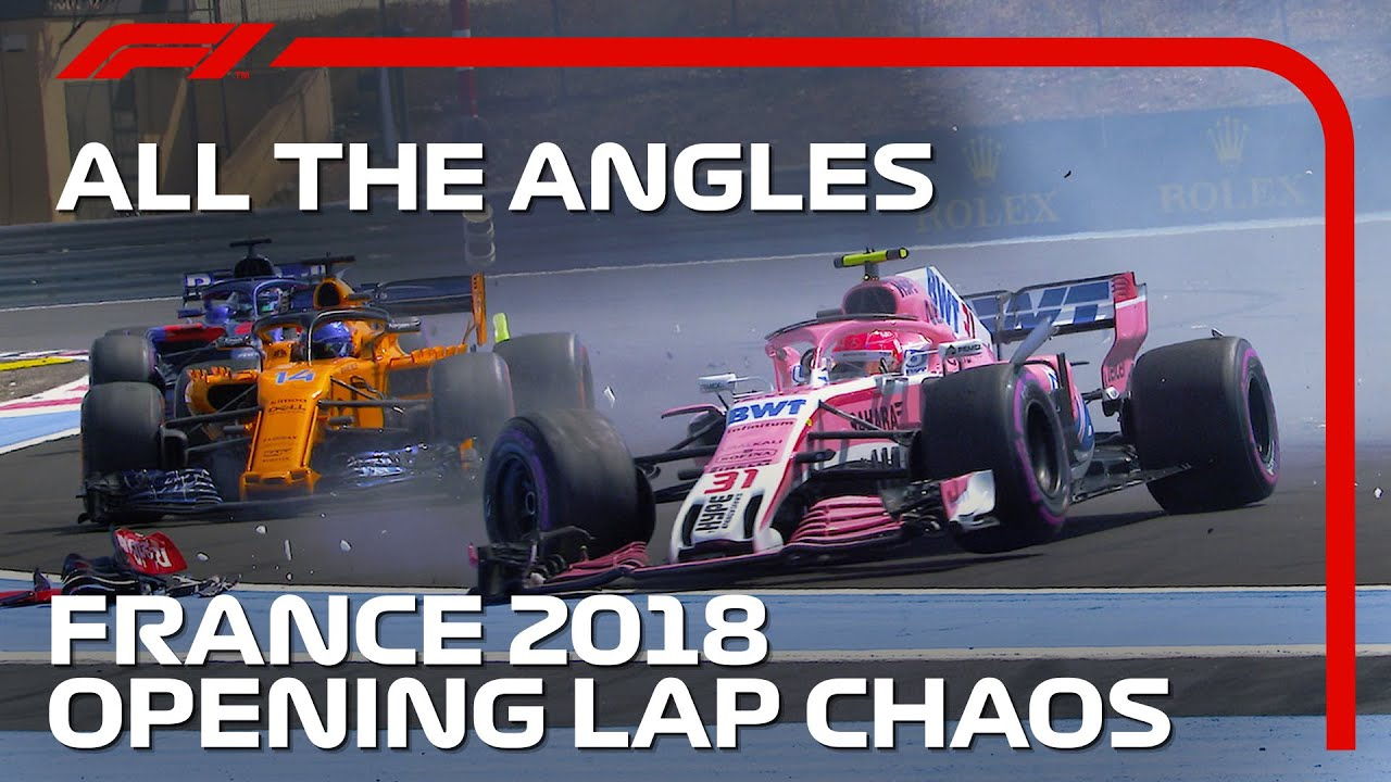 Opening Lap Chaos At Paul Ricard | All The Angles | 2018 French Grand Prix