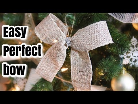 How to: Easy Perfect Bow Tutorial | Christmas 2017 DOLLAR TREE supplies 🎄🎀