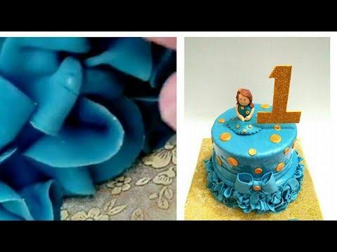 How to make Fondant Ruffles on a cake. Fondant Ruffles Technique