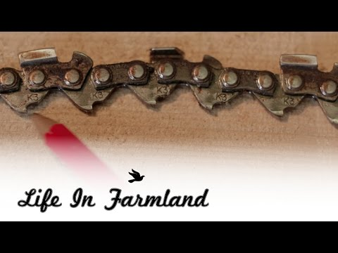 Figure out what size chain you need without stampings on the bar - Chainsaw Chains 101