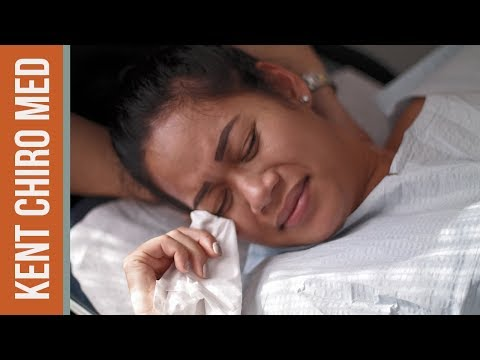 INTENSE chiropractic - young girl with SEVERE NECK PAIN gets quick pain relief!