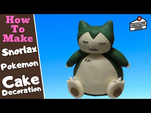 How to Make a Pokemon Snorlax Cake Topper Decoration Caketastic Instructions