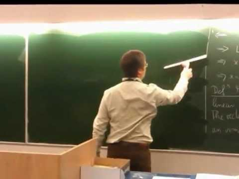 Blackboard cleaning with Benny Hill
