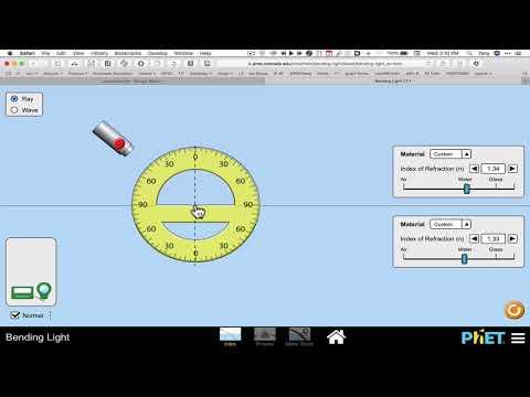 Bending Light PhET Tools explained