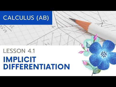 Calculus AB Lesson 4.1: Implicit Differentiation