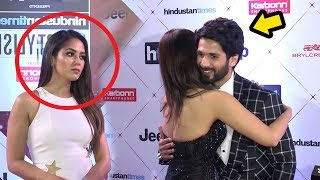 Shahid Kapoor's Wife Meera Rajput's JEALOUS Reaction When Shahid Hugs HOT Vani Kapoor