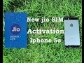 Hindi || New jio SIM activation in iPhone 5s