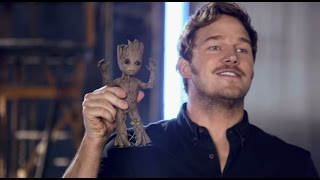 Guardians of the Galaxy Vol. 2: Guns and Baby Groot from the Set