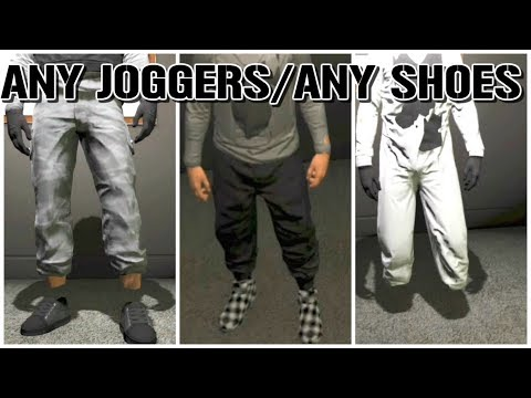 PS3/XBOX 360 Any Shoes With Black Joggers! CRAZY MODDED OUTFITS