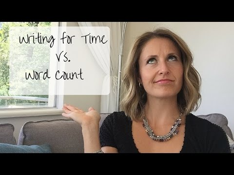 Writing tips: Writing for Time vs. Word Count