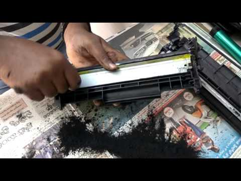 how to 12a toner refilling in telugu
