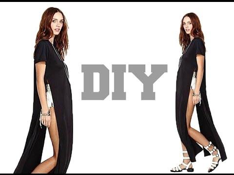 DIY //High split Maxi Dress (Easy Sewing)