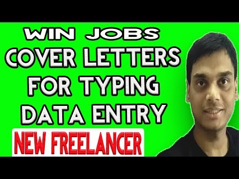 Upwork,PPH sample cover letter for data entry and typing   win jobs on upwork   Apply from mobile